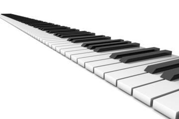 Klavier-Klaviatur gerade, schräg
