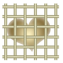 Gold heart and bars