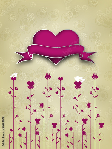 canvas print picture Valentines Day Card