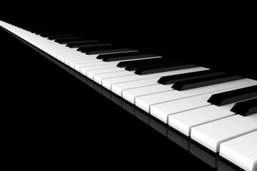 Klavier-Klaviatur, gerade schraeg schwarz