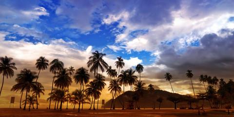 Maracas Beach Panorama - Trinidad and Tobago