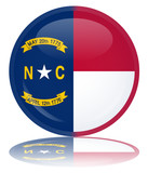 North Carolina Flag Round Button (Carolinian Vector Reflection)