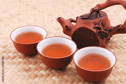 Purple sand tea set