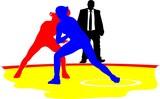 women wrestling poster