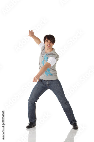Single male tap dancer