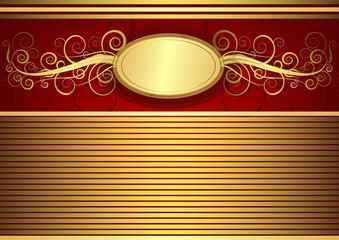 Gold vintage card (vector)