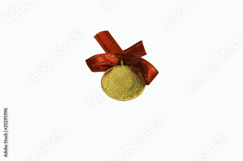 gold on white background