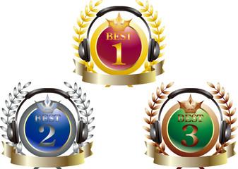 Music ranking icon