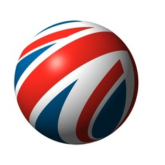 ball from U.K. flag