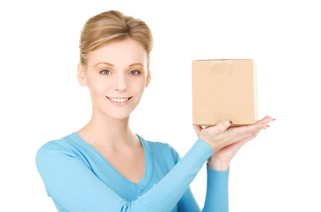 picture of businesswoman with parcel