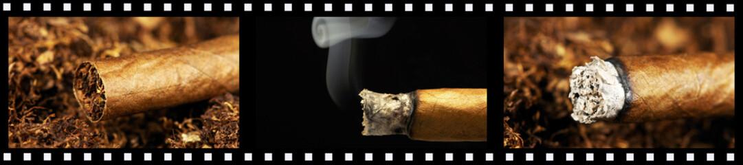 Filmstreifen Zigarillos