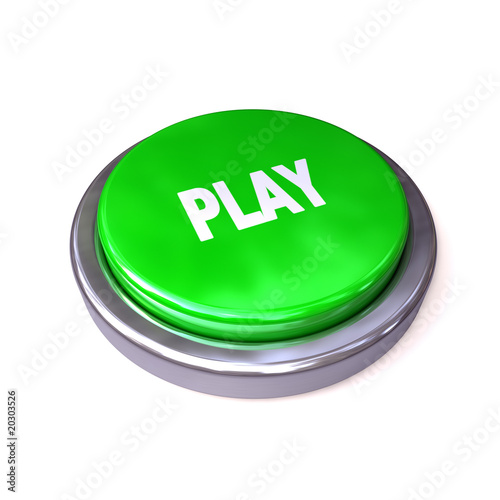 button play green isolated