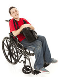 Disabled Teen Boy Full Body poster