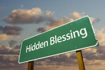 Hidden Blessing Green Road Sign.