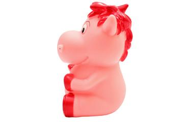 Pink rubber piggy
