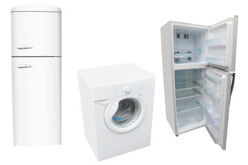 refrigerators and washer