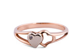 Ring decorated with two hearts