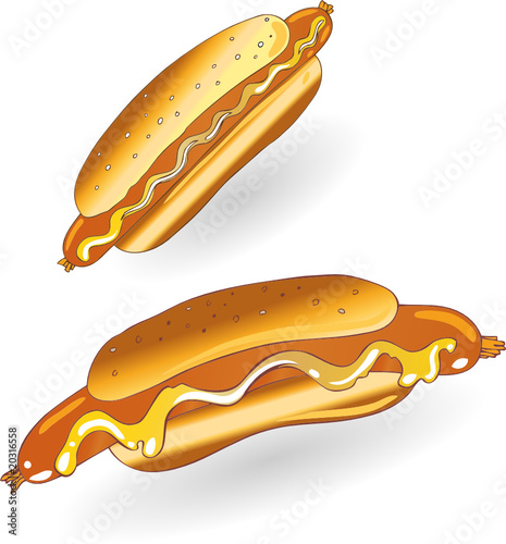 hot dog senf w rstchen by christine krahl royalty free vectors 20316558 on. Black Bedroom Furniture Sets. Home Design Ideas