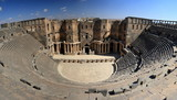 the biggest roman amphitheater in Bosra, Syria poster
