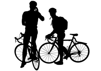 Two mens on bicycles