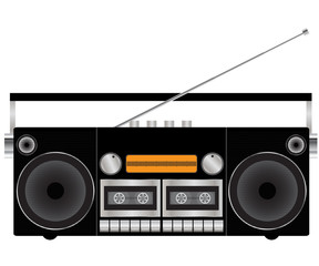 Tape recorder - vector illustration