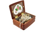 wooden box with jewellery