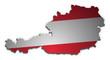 Österreich Karte 3D Flagge