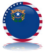 Nevada State Square Flag Button (USA America Vector Reflection)