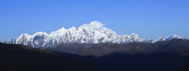 tibet: namcha barwa mountain peak