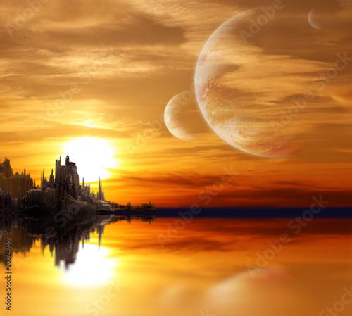 Fototapety, obrazy : Landscape in fantasy planet