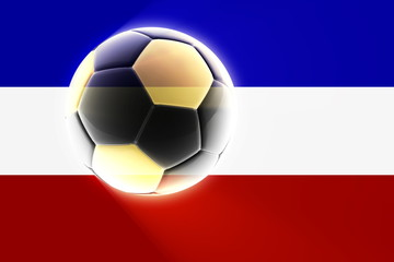 Flag of Serbia and Montenegro soccer