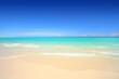 Leinwanddruck Bild - Idyllic beach with white sand and turquoise blue waters