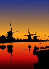 I mulini di Kinderdijk