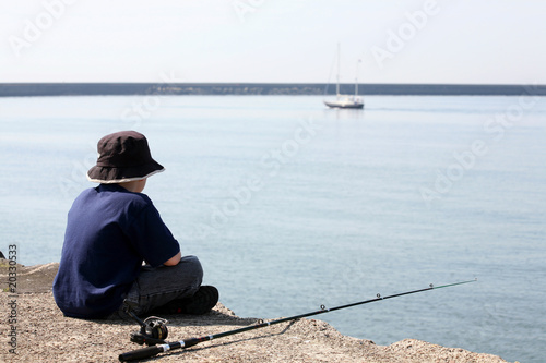 Fishing in the big sea