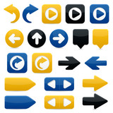 Directional Arrow Icons - Bright