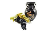 grape and black vase