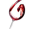 Quadro Wine collection - Red wine is poured into a glass