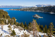 Emerald Bay in winter, Lake Tahoe