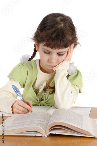 child writes and reads, isolated