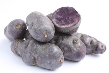 Vitelotte potatoes