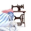 tela y maquina de coser