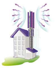 antenne telephonique d'immeuble