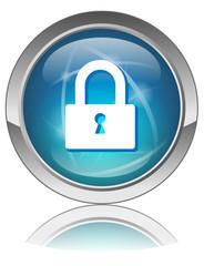 """Bouton web rond """"ACCES SECURISE"""" (sécurité internet données)"""