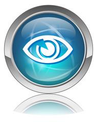 """Bouton web vecteur """"VOIR"""" (regarder oeil vidéo play ligne)"""