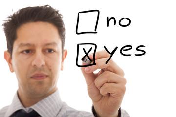 Positive decision