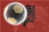Flag of Albania,  soccer poster