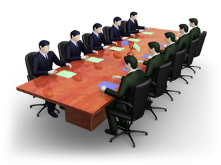 Two group of businessmans on  business meeting