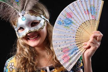 Beautiful young Girl in  mask