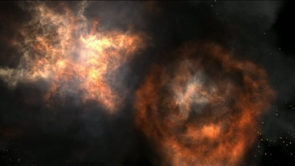 Video motion background cloud explosion