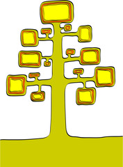 Tree. Element for design vector illustration.